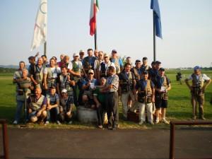 La squadra di skeet al terzo posto