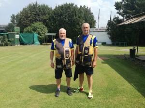 Diego Antonietti e Claudio Munaro in rappresentanza dello Shooting Team Scaligero