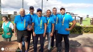 La squadra del Veneto terza classificata, da sx: Diego Antonietti, Cristian Camporese, Gianantonio Tolio, Luca Lugoboni, Enrico Munaro, Lamberto Belluzzo